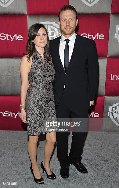 Jane Parker and actor Kevin McKidd arrive at the InStyle/Warner Bros. After party for the 66th Annual Golden Globe Awards held at the Oasis Court at...