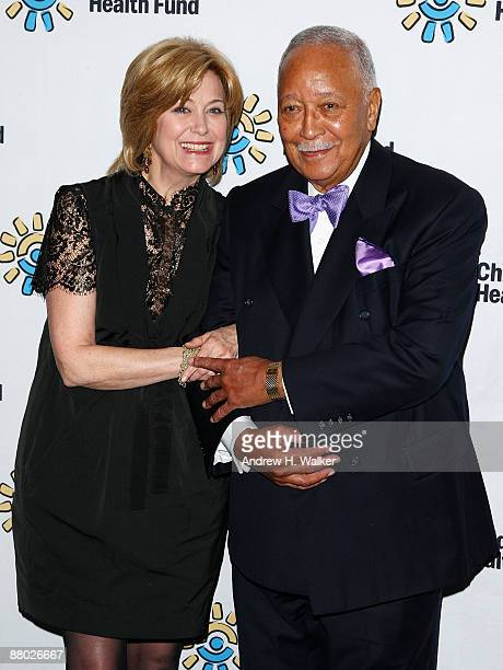 Jane Pauley and Honorable David Dinkins former mayor of New York City attend the Children's Health Fund benefit at Sheraton New York Hotel Towers on...