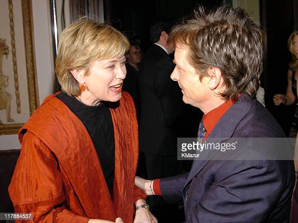 Jane Pauley and Michael J Fox during A Funny Thing Happened on the Way to Cure Parkinson's A Benefit Evening for the Michael J Fox Foundation for...
