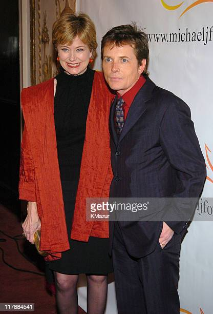 Jane Pauley and Michael J Fox during 'A Funny Thing Happened on the Way to Cure Parkinson's' A Benefit Evening for the Michael J Fox Foundation for...