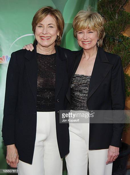 Jane Pauley and sister during 2004 NBC AllStar Party at Universal Studios Hollywood in Universal City California United States