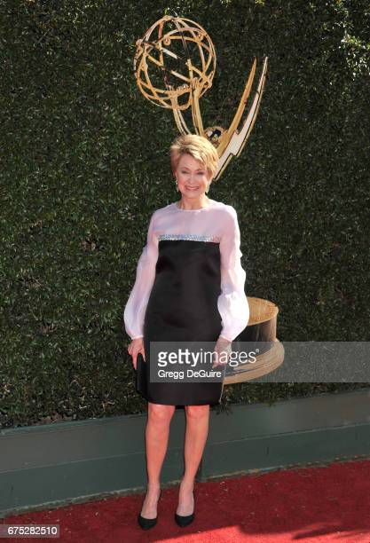 Jane Pauley arrives at the 44th Annual Daytime Emmy Awards at Pasadena Civic Auditorium on April 30 2017 in Pasadena California