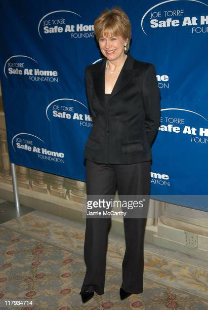 Jane Pauley during 2nd Annual Joe Torre Safe at Home Foundation Gala Arrivals at Pierre Hotel in New York City New York United States