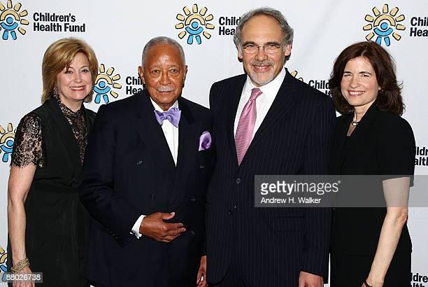 Jane Pauley Honorable David Dinkins Irwin Redlener and Karen Redlener attend the Children's Health Fund benefit at Sheraton New York Hotel Towers on...