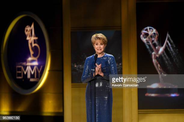 Jane Pauley speaks onstage during the 45th annual Daytime Emmy Awards at Pasadena Civic Auditorium on April 29 2018 in Pasadena California