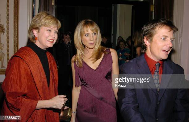 Jane Pauley Tracy Pollan and Michael J Fox during A Funny Thing Happened on the Way to Cure Parkinson's A Benefit Evening for the Michael J Fox...