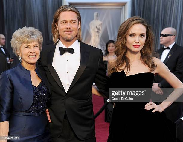 Jane Pitt Brad Pitt and Angelina Jolie arrive at the 84th Annual Academy Awards at Hollywood Highland Center on February 26 2012 in Hollywood...
