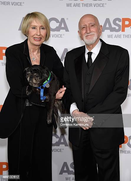 Jane Pittson and actor Dominic Chianese attend ASPCA'S 18th Annual Bergh Ball honoring Edie Falco and Hilary Swank at The Plaza Hotel on April 9 2015...