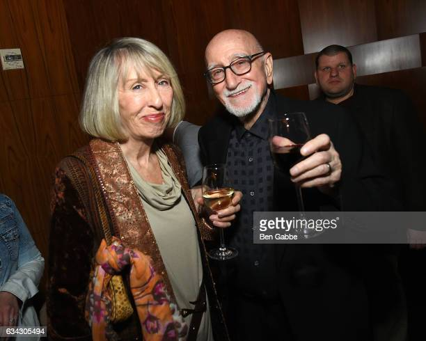 Jane Pittson and actor Dominic Chianese attend The Good Fight World Premiere After Party at Jazz at Lincoln Center on February 8 2017 in New York City