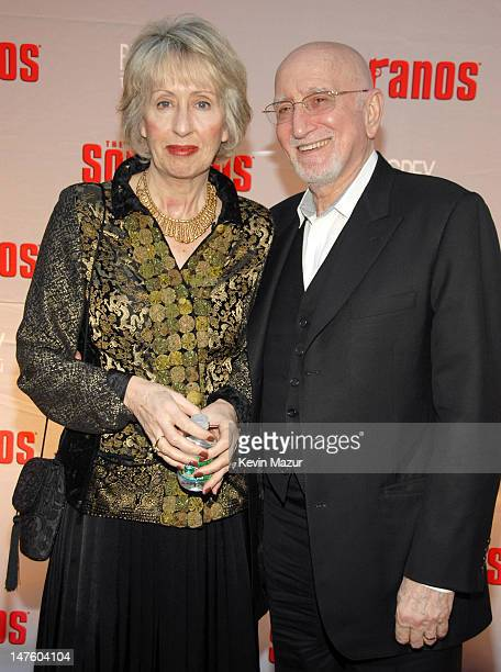Jane Pittson and Dominic Chianese during The Sopranos Final Season World Premiere Red Carpet at Radio City Music Hall in New York City New York...