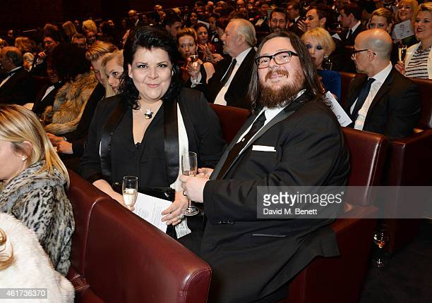 Jane Pollard and Iain Forsyth attend The Critics' Circle Film Awards at The May Fair Hotel on January 18 2015 in London England