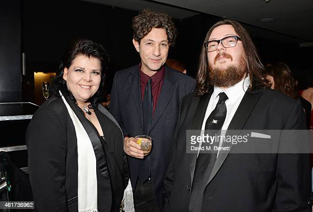 Jane Pollard, Jonathan Glazer and Iain Forsyth attend an after party following The Critics' Circle Film Awards at The May Fair Hotel on January 18,...
