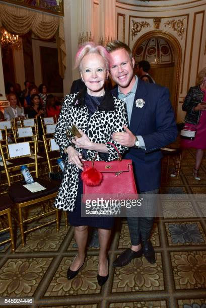 Jane Pontarelli and Andrew Werner attend the Dennis Basso Spring/Summer 2018 Runway Show during New York Fashion Week at The Plaza Hotel on September...