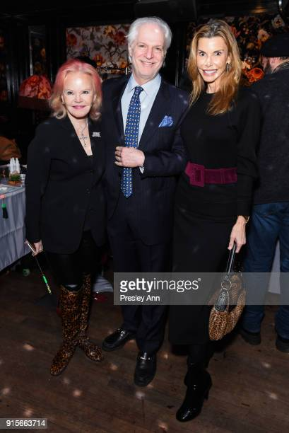 Jane Pontarelli Stephen Victor and Anna Rhoads attend Leesa Rowland's Animal Ashram PopUp Penthouse on February 7 2018 in New York City