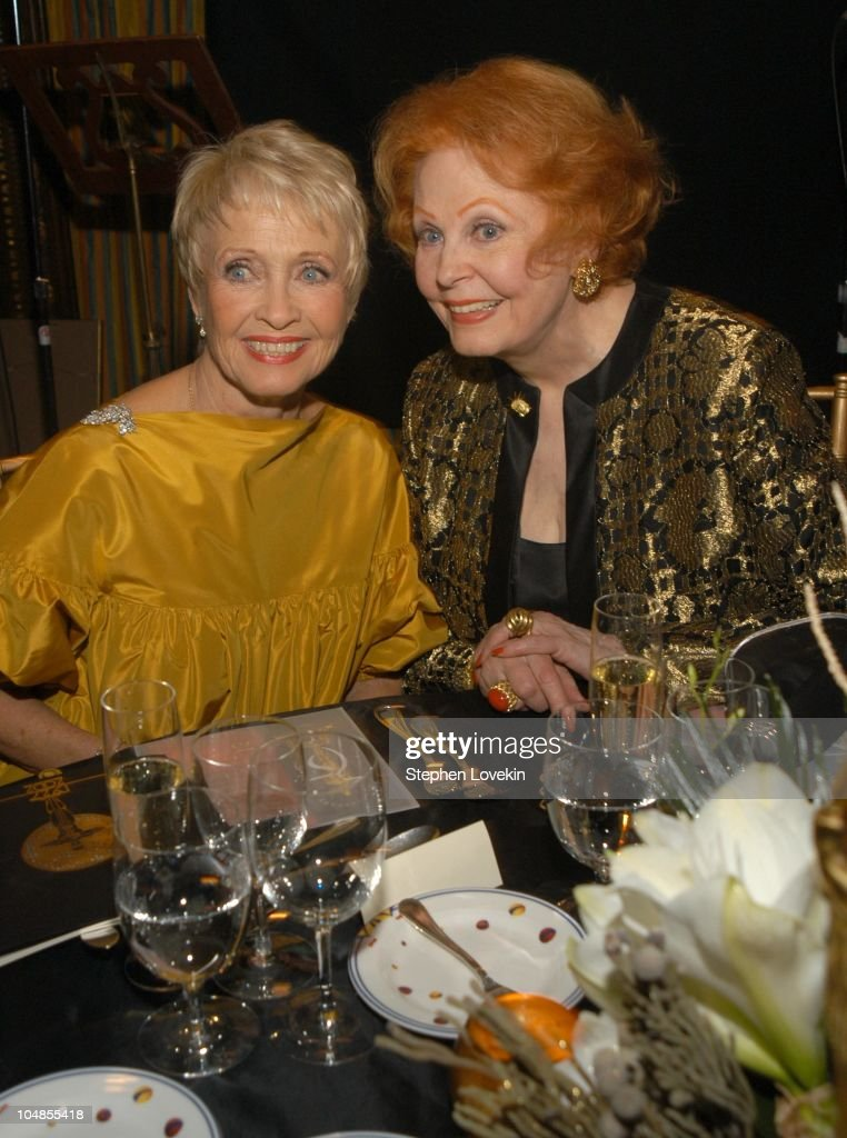 Jane Powell and Arlene Dahl during Official 2003 Academy of Motion Picture Arts and Sciences Oscar Night Party at Le Cirque 2000 at Le Cirque 2000 in New York, NY, United States.