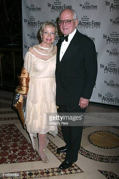Jane Powell and Dick Moore during The Actors Fund There's No Business Like Show Business Gala at Cipriani 42nd Street in New York City New York...