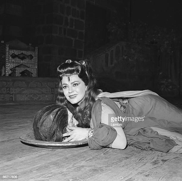 "Jane Rhodes in ""Salome"" of Richard Strauss. Opera de Paris, October 1958."