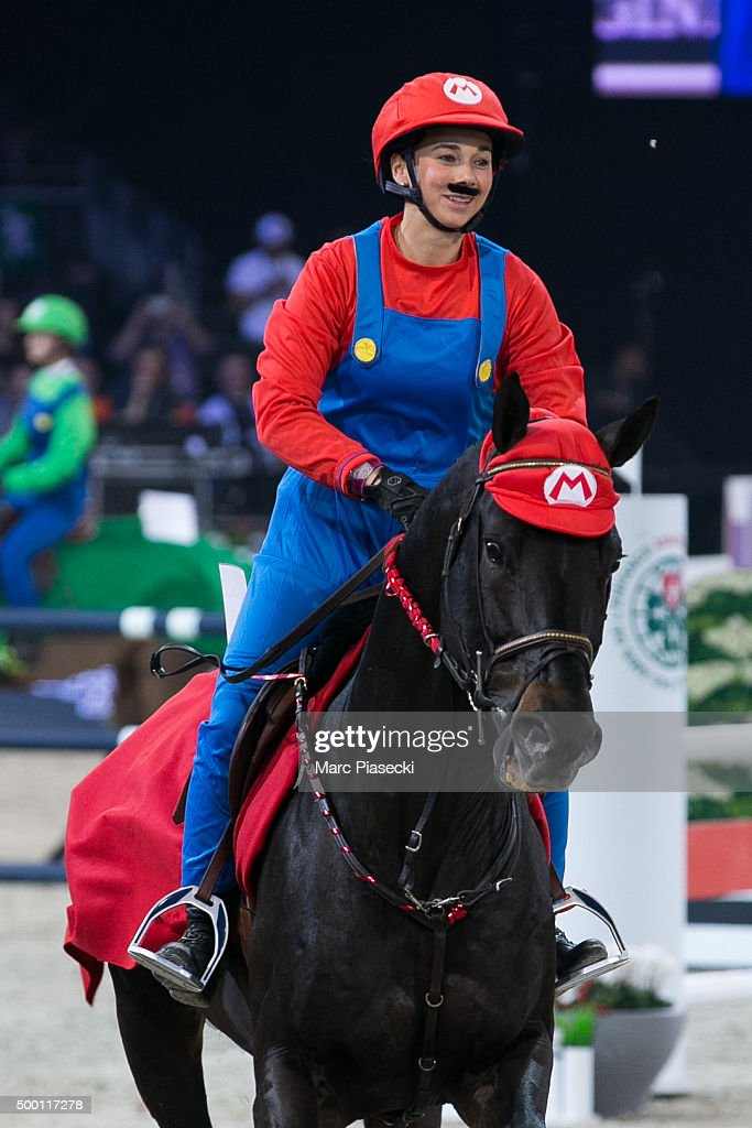 Jane Richard Philips rides during the of the style and competition for the 'Amade' charity gala at the Longines Masters on December 5, 2015 in Villepinte, France.