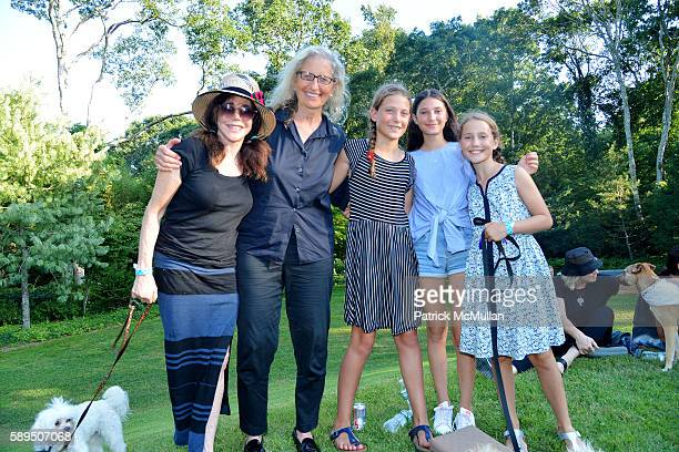 Jane Rose Annie Leibovitz and Guests attend LongHouse Reserve Presents Laurie Anderson's Concert For Dogs at LongHouse Reserve on August 13 2016 in...