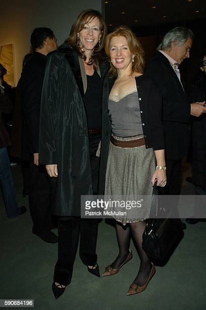 Jane Rosenthal and April Gornik attend Eric Fischl Art Opening at Mary Boone Gallery on March 5, 2005 in New York City.