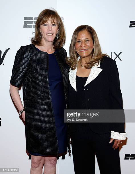 Jane Rosenthal and C Vivian Stringer attend 'Venus Vs' and 'Coach' New York Special Screenings at Paley Center For Media on June 24 2013 in New York...
