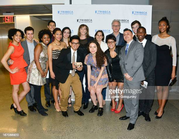 Jane Rosenthal and Class of 2012 Film Fellows attend the Tribeca Film Institute Film Fellows Class of 2012 Screening Graduation during the 2013...