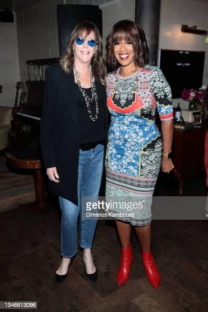 Jane Rosenthal and Gayle King attend Through Her Lens: The Tribeca CHANEL Women's Filmmaker Program Cocktail Celebration at Soho House on October 14,...