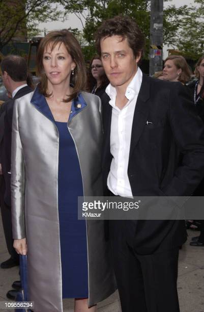 Jane Rosenthal and Hugh Grant during 2002 Tribeca Film Festival About A Boy Premiere at Tribeca Performing Arts Center in New York City New York...
