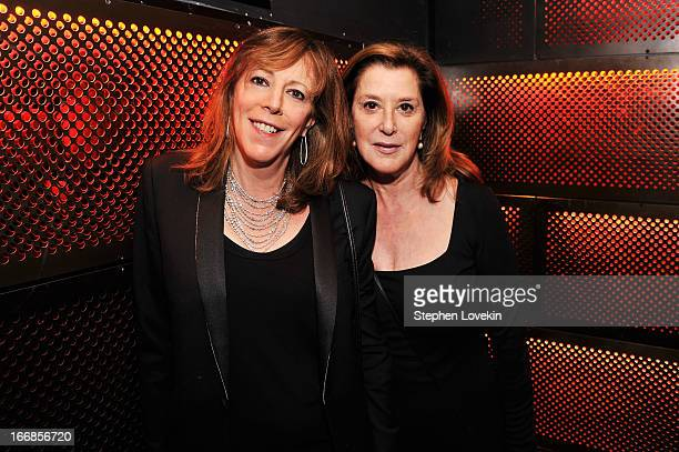 Jane Rosenthal and Paula Weinstein attend the 2013 Tribeca Film Festival opening night after party for Mistaken For Strangers sponsored by American...