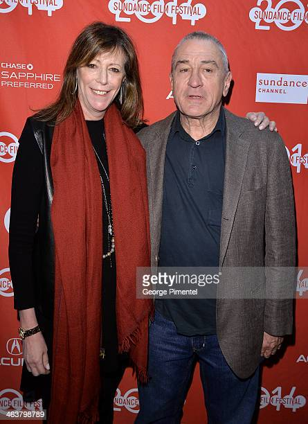Jane Rosenthal and Robert De Niro attend Documentary Shorts Program II at Yarrow Hotel Theater during the 2014 Sundance Film Festival on January 19...