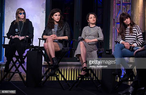 Jane Rosenthal Eve Lindley Stefania Owen and Katie Holmes attend AOL Build Series at AOL HQ on December 7 2016 in New York City