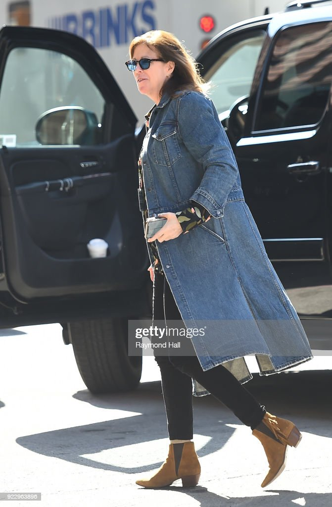 Jane Rosenthal is seen arriving at 'Tribeca office on February 21, 2018 in New York City.