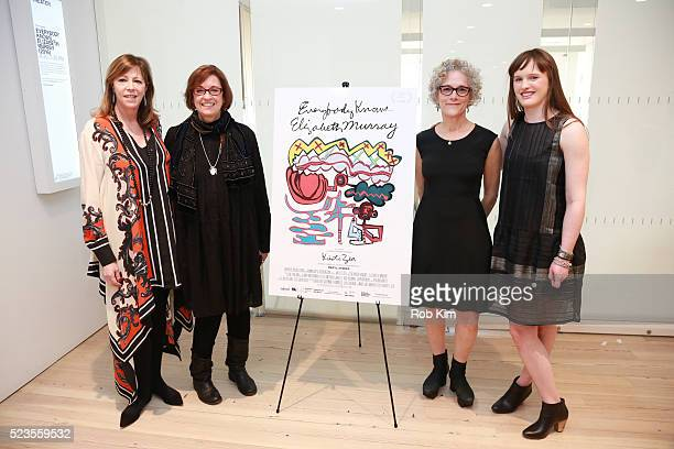 """Jane Rosenthal, Kristi Zea, Jacki Ochs and Caroline Goodman Thomases attend the premiere of """"Everybody Knows... Elizabeth Murray"""" during the 2016..."""