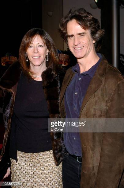 Jane Rosenthal producer and Jay Roach director during Meet the Fockers Los Angeles Premiere Red Carpet at Universal Amphitheatre in Los Angeles...