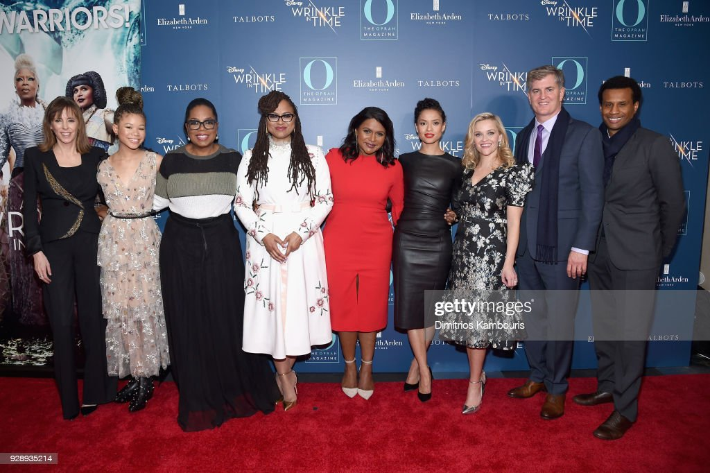 Jane Rosenthal, Storm Reid, Oprah Winfrey, Ava DuVernay, Mindy Kaling, Gugu Mbatha-Raw, Reese Witherspoon, Jim Whitaker and Tendo Nagenda attend as O, The Oprah Magazine hosts special NYC screening of 'A Wrinkle In Time' at Walter Reade Theater at Walter Reade Theater on March 7, 2018 in New York City.