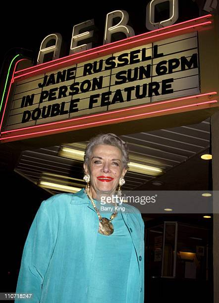 Jane Russell during Jane Russell Appearance at American Cinematheque Screenings at the Aero Theatre at Aero Theatre in Santa Monica CA United States