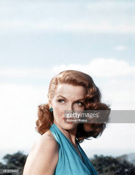 Jane Russell in a scene from the film 'The Revolt Of Mamie Stover', 1956.
