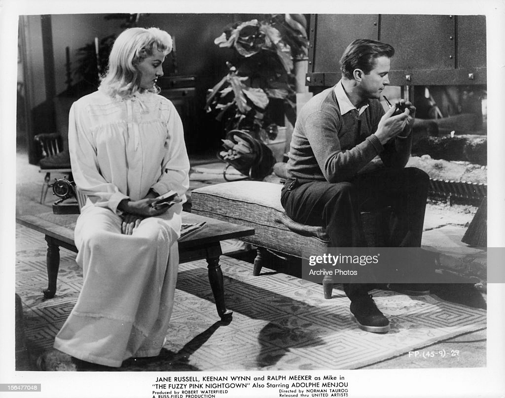 8b01c6dafa Jane Russell And Ralph Meeker In  The Fuzzy Pink Nightgown    News Photo