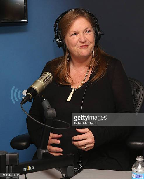 Jane Sanders visits SiriusXM's 'Leading Ladies' series with host Julie Mason on the POTUS channel 124 at SiriusXM Studio on April 18 2016 in New York...