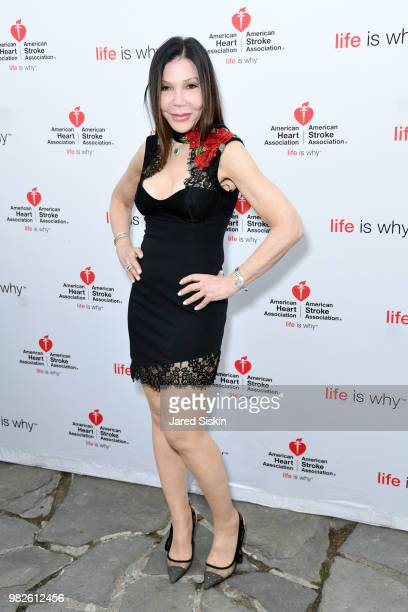 Jane Scher attends the 22nd Annual Hamptons Heart Ball on June 23 2018 in Southampton New York