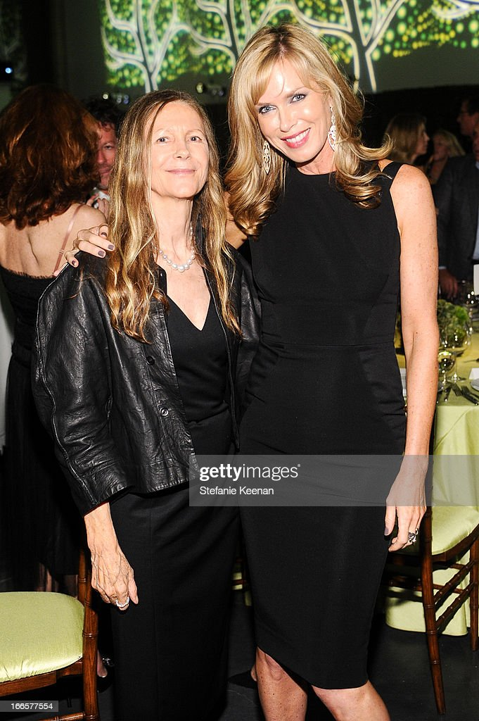 Jane Semel and Kathy Freston attend LACMA's 2013 Collectors Committee - Gala Dinner at LACMA on April 13, 2013 in Los Angeles, California.