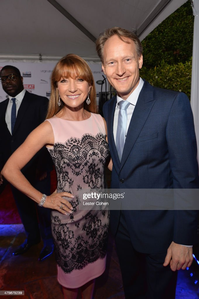 Jane Seymour and British Consul General in Los Angeles Chris O'Connor attend the 2014 GREAT British Oscar Reception at British Consul General's Residence on February 28, 2014 in Los Angeles, California.