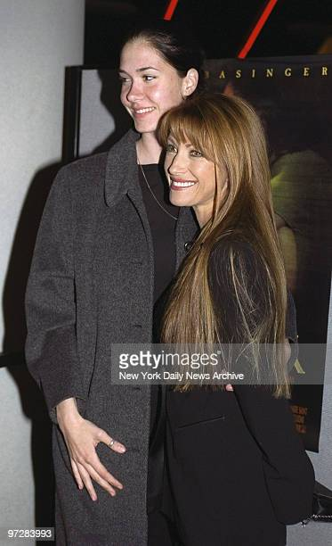 Jane Seymour and daughter Jenny at premiere of the movie I Dreamed of Africa at the Sony Theater Lincoln Square