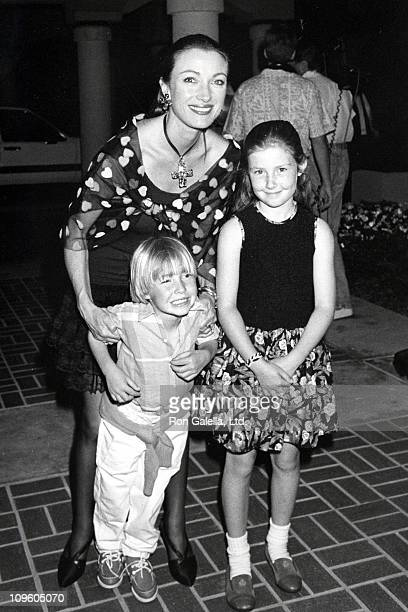 Jane Seymour and daughter Kate Flynn and son Sean Flynn