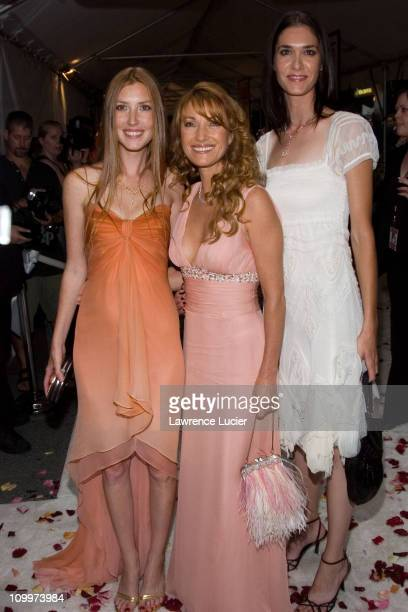 Jane Seymour and daughters during Wedding Crashers New York City Premiere Inside Arrivals at Ziegfeld Theater in New York City New York United States