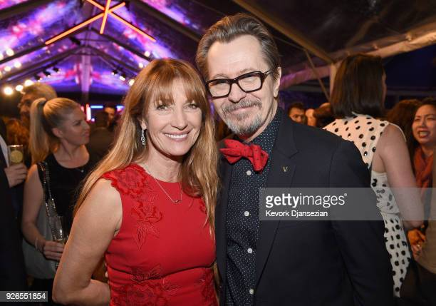 Jane Seymour and Gary Oldman attend the Great British Film Reception honoring the British nominees of The 90th Annual Academy Awards on March 2 2018...