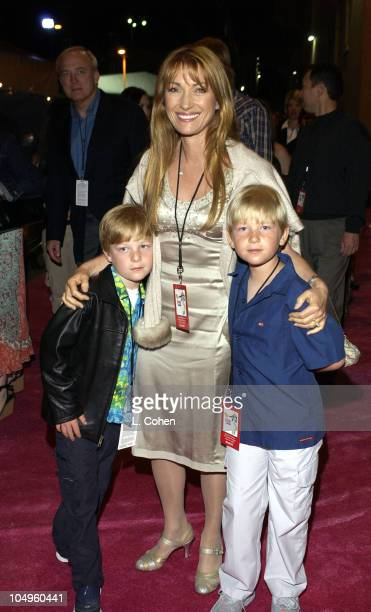 Jane Seymour and her sons during The Lizzie McGuire MoviePremiere After Party at The El Capitan Theater in Hollywood CA United States