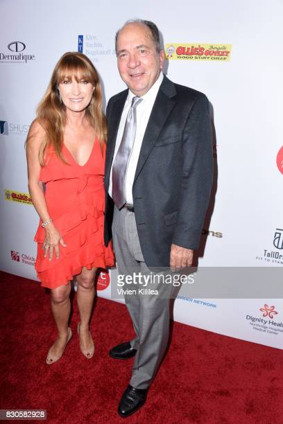 Jane Seymour and Johnny Bench attend the 17th Annual Harold Carole Pump Foundation Gala at The Beverly Hilton Hotel on August 11 2017 in Beverly...