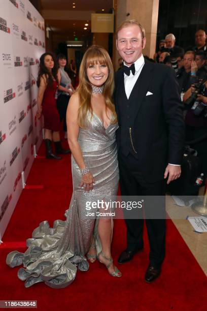 Jane Seymour and Kristopher Steven Keach attend the 33rd American Cinematheque Award Presentation Honoring Charlize Theron and The 5th Annual Sid...