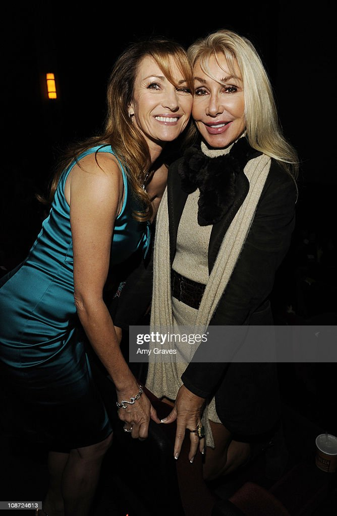Jane Seymour and Linda Thompson attend the 'Waiting for Forever' Movie Premiere at The Grove on February 1, 2011 in Los Angeles, California.